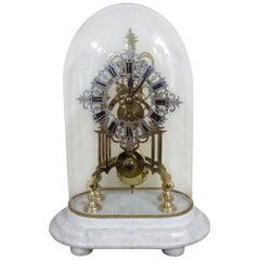 Victorian Brass Skeleton Mantel Clock
