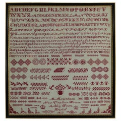 Victorian Bristol Orphanage Sampler, 1879, by M Mountain