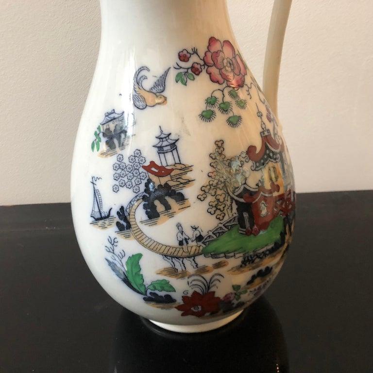 Victorian British Oriental Decor Ceramic Jug, circa 1870 For Sale 3