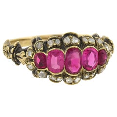 Victorian Burmese Ruby and Diamond Ring
