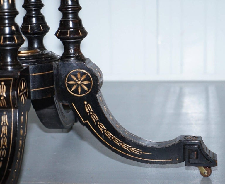Victorian Burr Walnut And Ebonized Octagonal Aesthetic