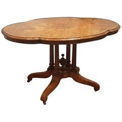 Victorian Burr Walnut Centre Table