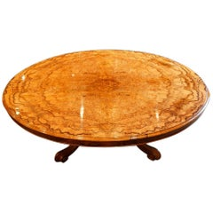 Victorian Burr Walnut Coffee Table