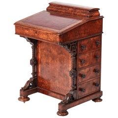 Victorian Burr Walnut Inlaid Davenport