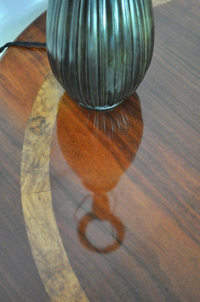 Victorian Burr Walnut, Mahogany and Ebony Circular Centre Table For Sale 2