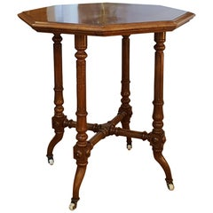 Victorian Burr Walnut Occasional Lamp Table