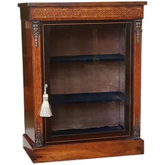 Victorian Burr Walnut Table Top Display Cabinet