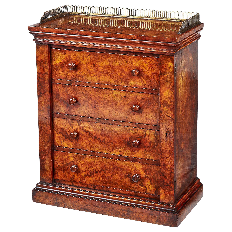 Victorian Burr Walnut 'Wellington' Table Cabinet