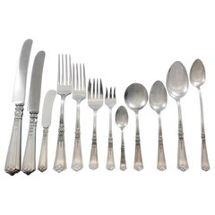 Victorian by Durgin Sterling Silver Flatware Set for 12 Service 195 Pieces