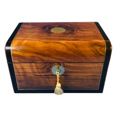 Victorian circa 1870 Walnut Jewelry Box