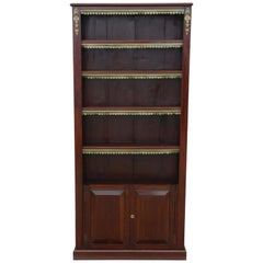 Victorian circa 1890 and Later Tall Adjustable Bookcase
