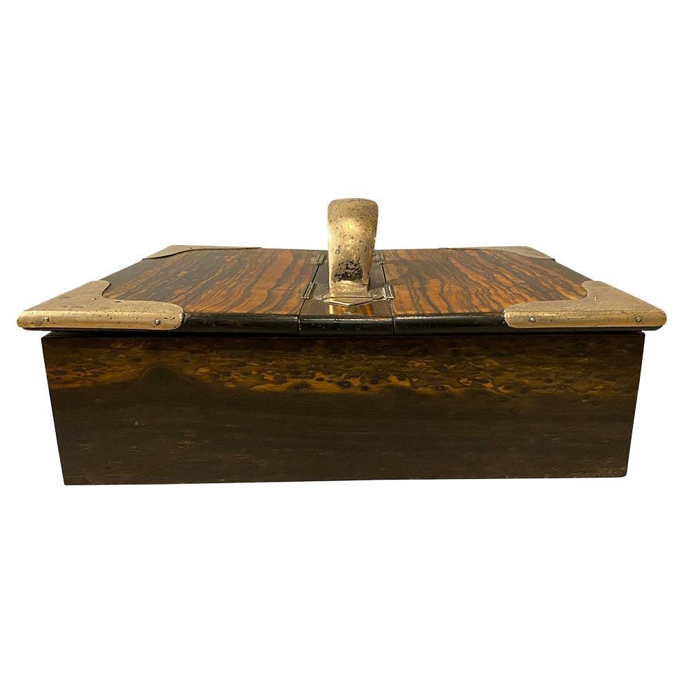 Victorian Calamander and Sterling Box