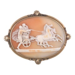 Victorian Cameo and Gold Brooch