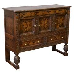 Victorian Carolean Style Oak Cupboard