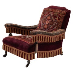 Victorian Carpet Chair, England, circa 1880