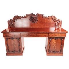 Victorian Carved Mahogany Sideboard, circa 1860