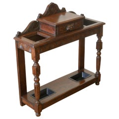 Victorian Carved Oak Stickstand