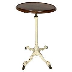 Victorian Cast Iron Adjustable Mahogany Top Table
