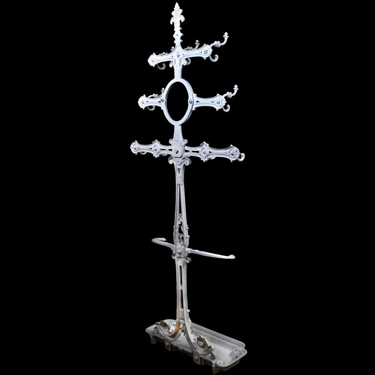 Victorian Cast Iron Coat or Hat Rack with Umbrella Stand, circa 1870 For Sale 1