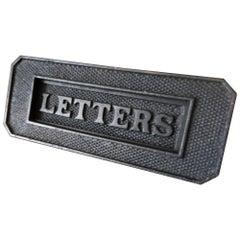 "Victorian Cast Iron Front Door ""Letters"" Box"