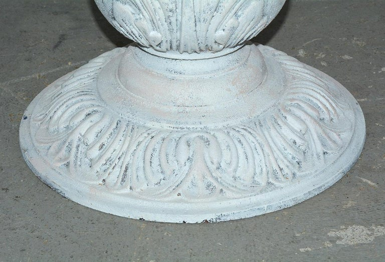 Victorian Cast Iron Pedestal Dining Table with Round Marble Top For Sale 4