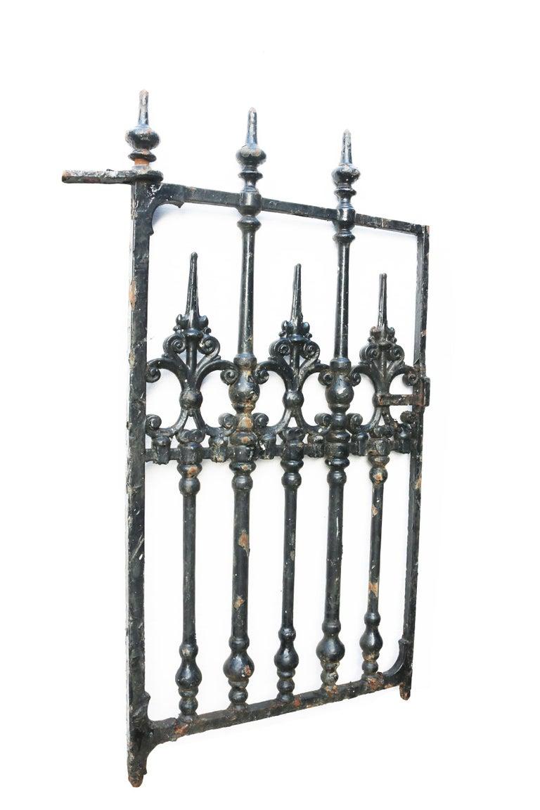 English Victorian Cast Iron Pedestrian Gate For Sale