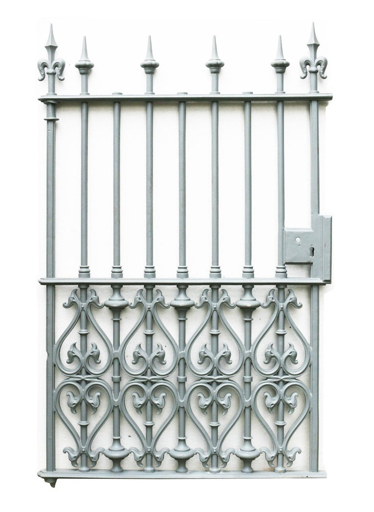 English Victorian Cast Iron Pedestrian Gate For Sale