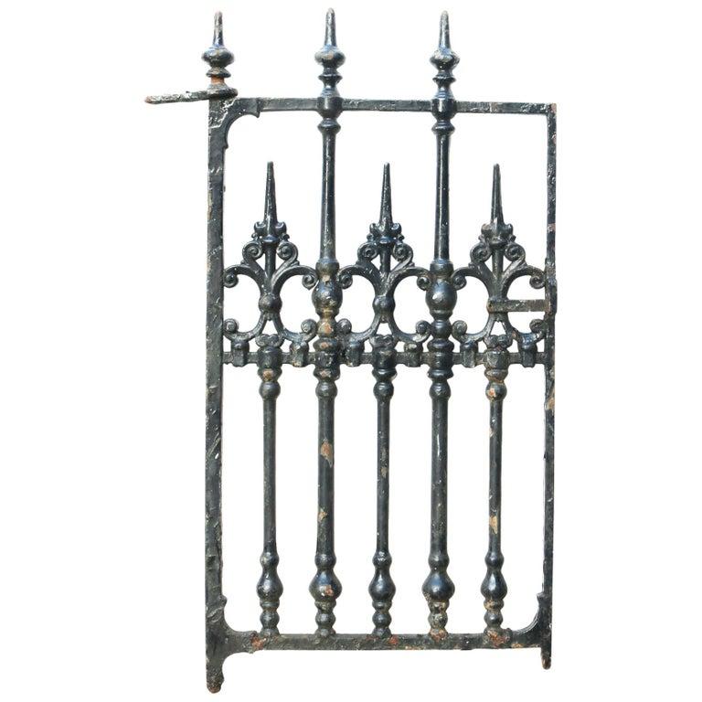 Victorian Cast Iron Pedestrian Gate For Sale
