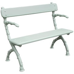 "Victorian Cast Iron ""Twiglet"" Bench"