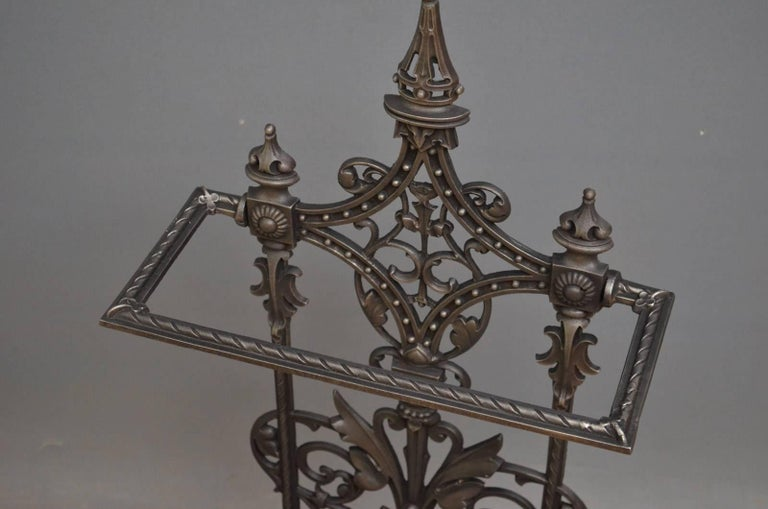 English Victorian Cast Iron Umbrella Stand For Sale