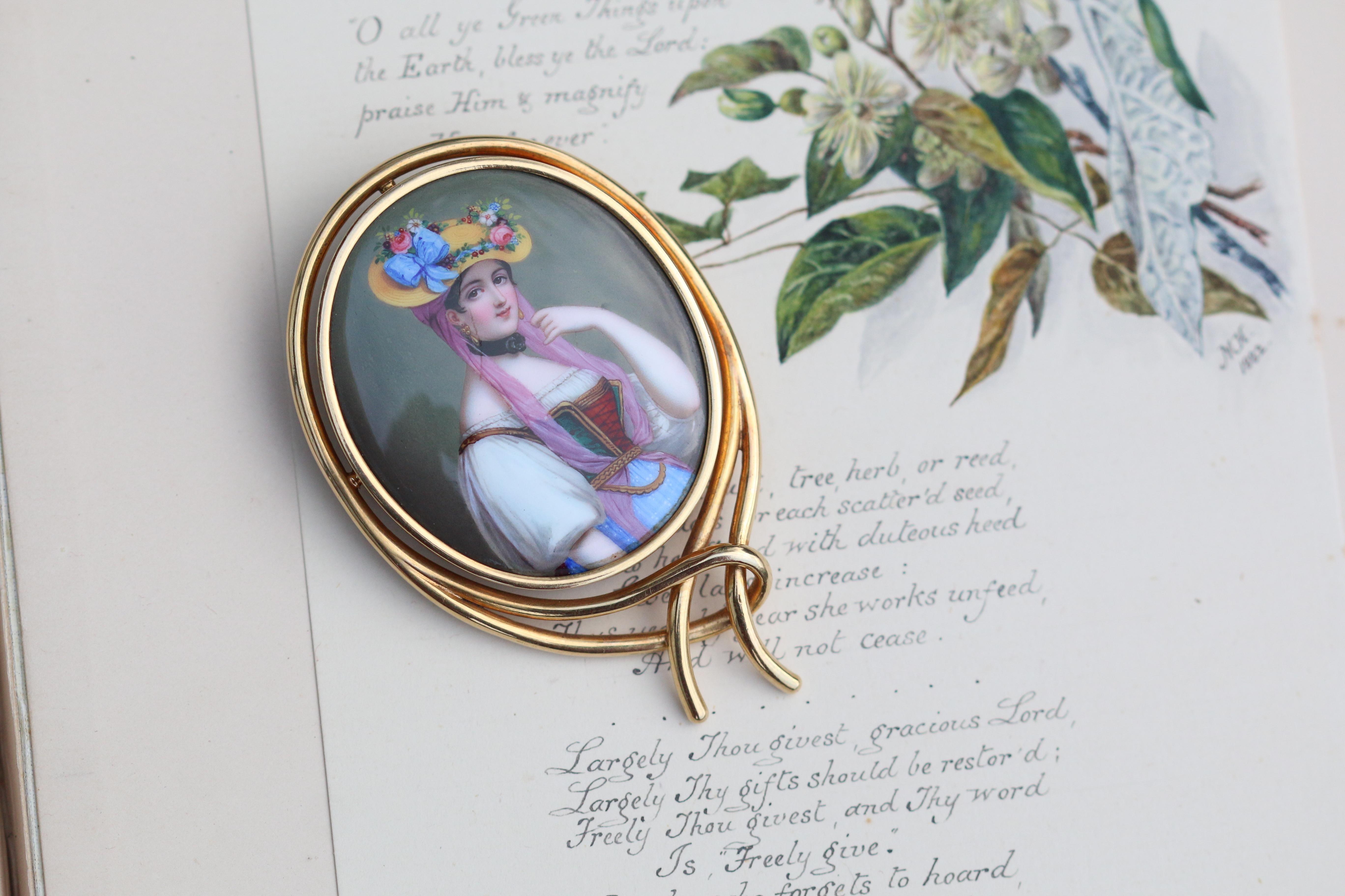 Antik Viktorianisch 14k Gold Rund Saphir Perlen Herz Kranz Brosche Anhänger Fine Pins & Brooches