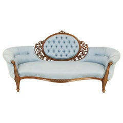 Victorian Chaise Lounge, Antique Loveseat, Vintage Settee, Scotland, 1870