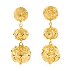 Victorian Chandelier Earrings in Gold