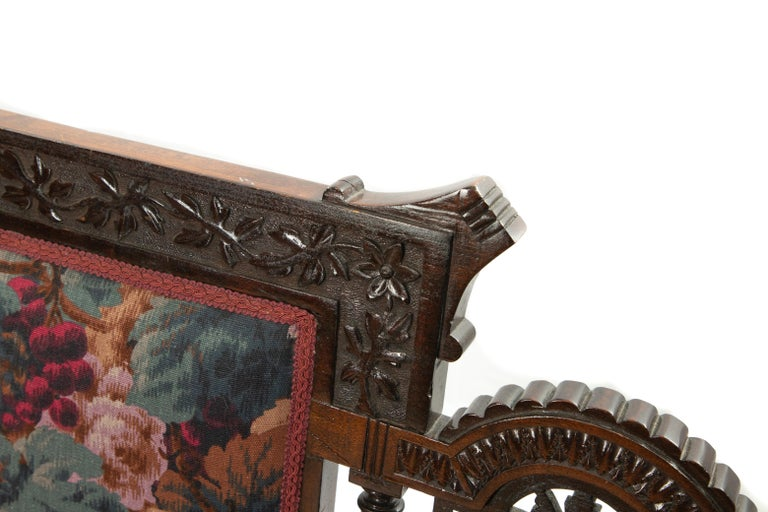 Woodwork Victorian Childs Settee For Sale