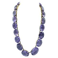 Choker Amethyst 450 Carat Necklace 14 Karat Gold