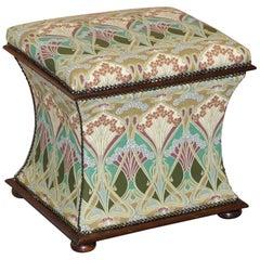 Victorian circa 1880 Liberty London Ianthe Upholstered Ottoman Footstool Trunk