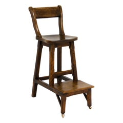 Victorian Clerks Walnut High Chair