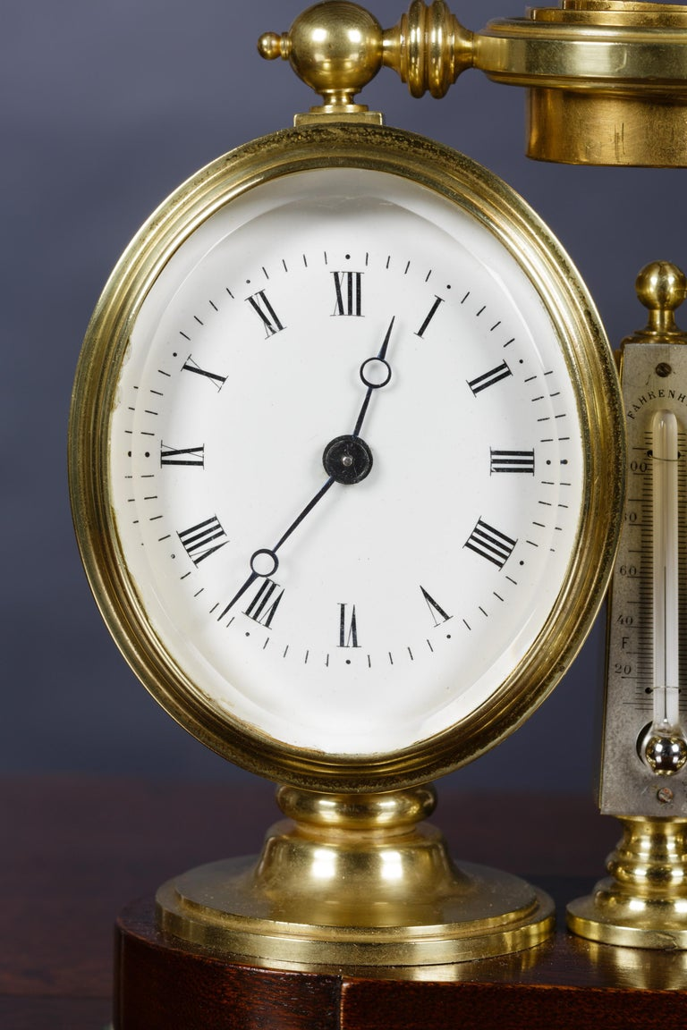 French Victorian Clock / Barometer Compendium For Sale