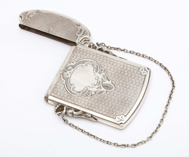 Victorian Coin Silver '.900' Calling Card/Business Card Holder by Gorham 6