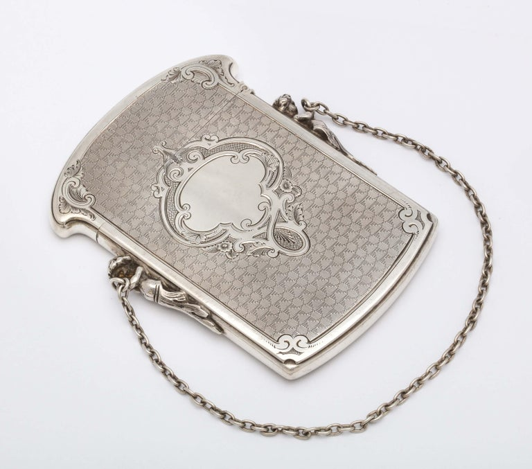 Victorian Coin Silver '.900' Calling Card/Business Card Holder by Gorham 8