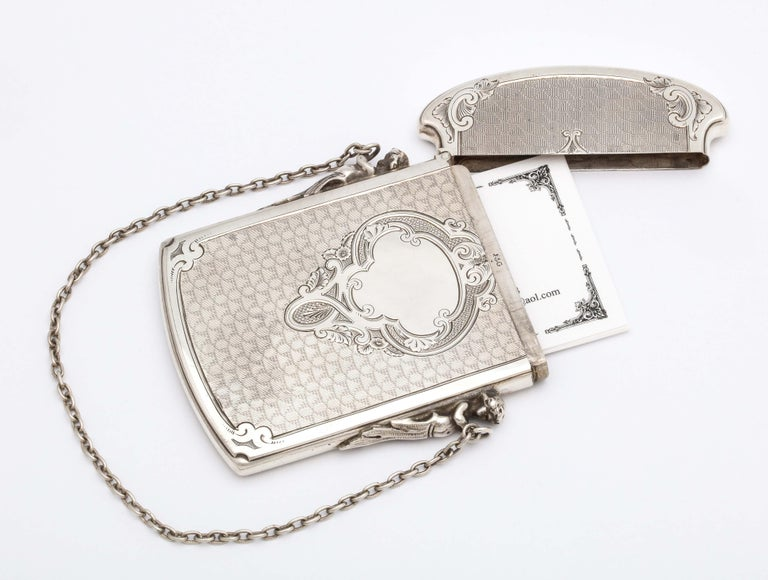 American Victorian Coin Silver '.900' Calling Card/Business Card Holder by Gorham