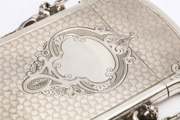 Victorian Coin Silver '.900' Calling Card/Business Card Holder by Gorham In Good Condition In New York, NY