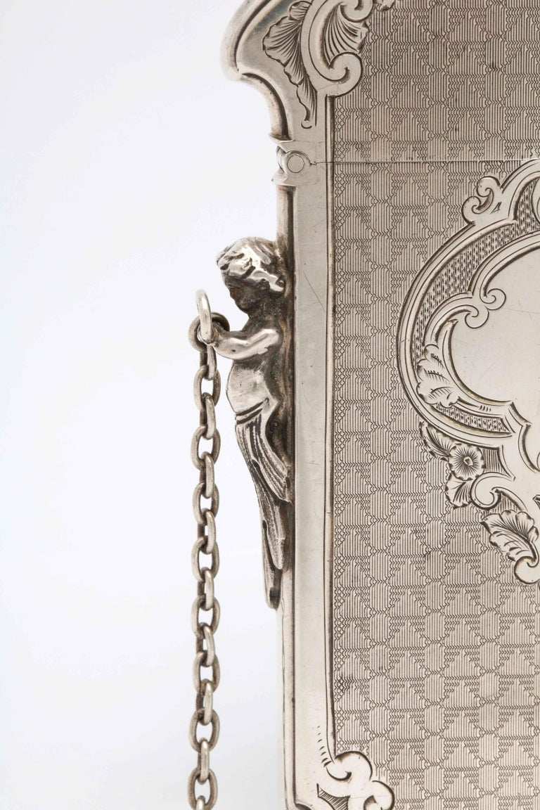 Victorian Coin Silver '.900' Calling Card/Business Card Holder by Gorham 2