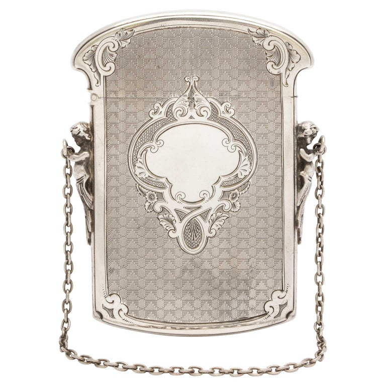 Victorian Coin Silver '.900' Calling Card/Business Card Holder by Gorham