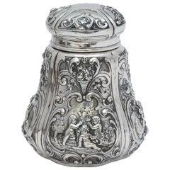 Victorian Continental Silver '.800' Tea Caddy