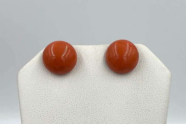 Victorian Coral Earrings Gold In Good Condition For Sale In New York, NY