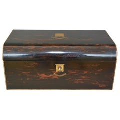 Victorian Coromandel Gentlemans Writing Box, circa 1860