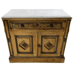 Victorian Cottage Style Hand-Painted Marble Top Dresser