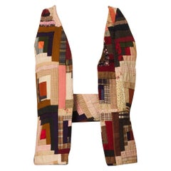 Victorian Cotton Wool  Log Cabin Quilt Vest