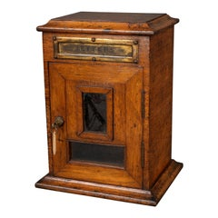 Victorian Country House Oak Letterbox
